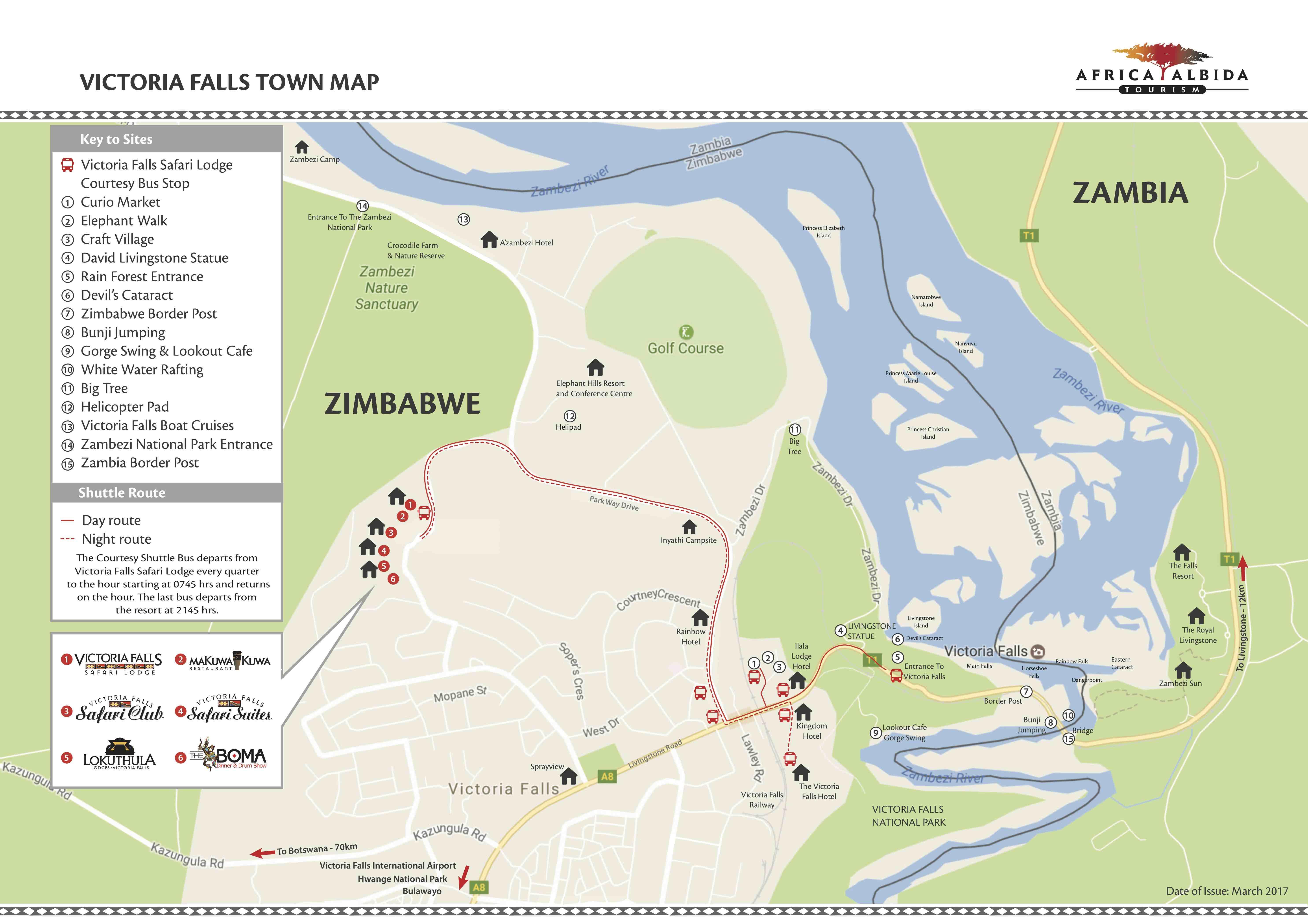 Victoria Falls Town Map Victoria Falls Town Map 2017   Victoria Falls Safari Lodge