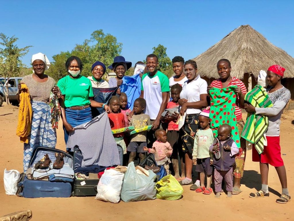 Africa Albida Tourism donated clothing to local villagers.