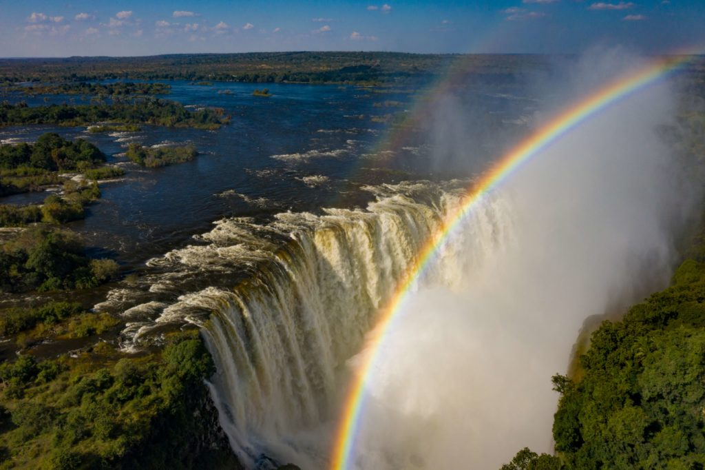 Renowned for its rainbows, the Victoria Falls is a sight to behold.
