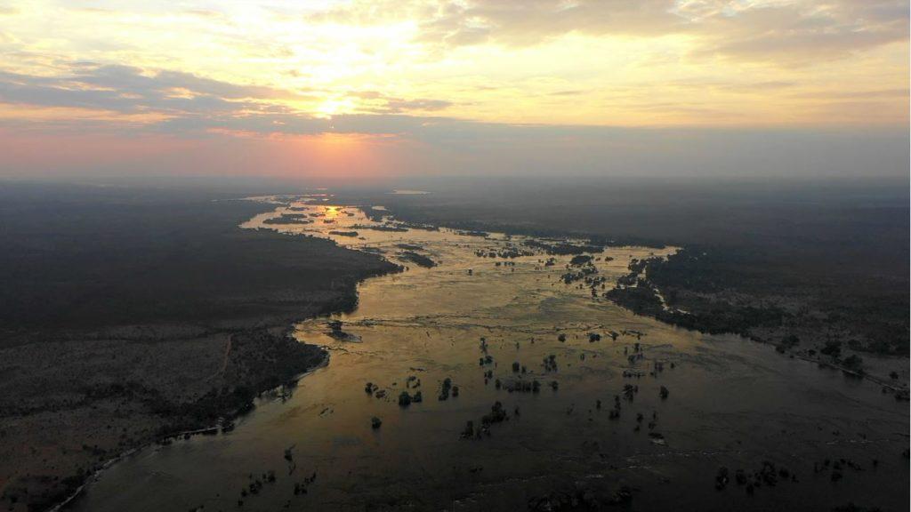 The Beautiful Zambezi River From Above