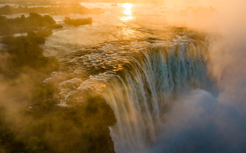 The Victoria Falls putting on May 7, putting on its greatest show in a decade