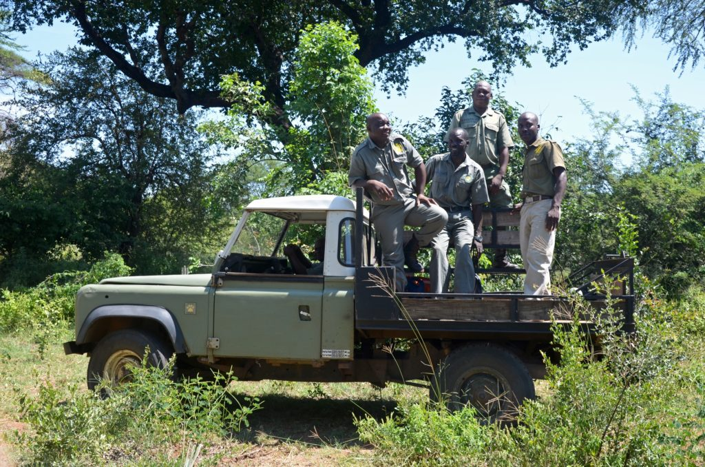 Victoria Falls Anti-Poaching Unit scouts heading out on patrol.
