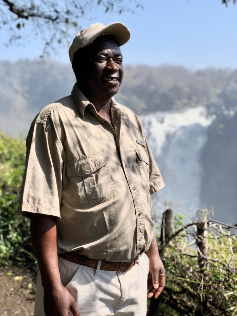 Victoria Falls Safari Lodge estate nature guide Aleck Zulu
