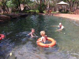 Cooling off in the swimming pool at Lokuthula Lodges | Victoria Falls Safari Lodge | Victoria Falls | Zimbabwe